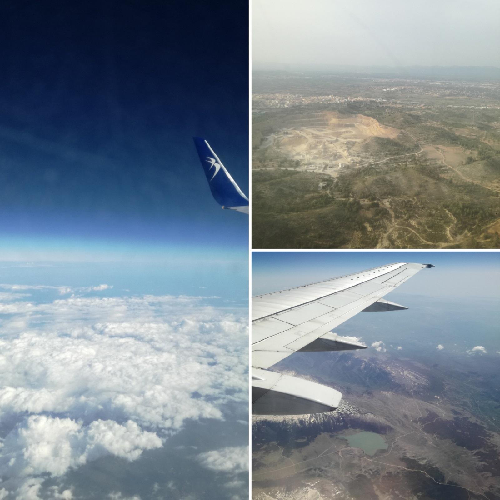 din avion spre Valencia